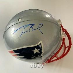 Tom Brady Autographed Patriots Full Sized NFL Football Helmet Tristar & Jsa Coa