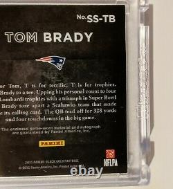 Tom Brady On Card Auto Game-worn Material Sizeable Signatures 5/10 Sealed Panini