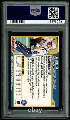 Tom Brady Rookie Card 2000 Bowman #236 PSA 8