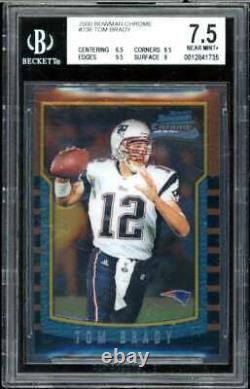 Tom Brady Rookie Card 2000 Bowman Chrome #236 BGS 7.5 (6.5 9.5 9.5 9)