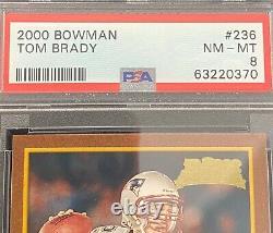 Tom Brady Rookie Card 2000 Bowman Psa 8 #236 Buccaneers Patriots NFL Legend Goat