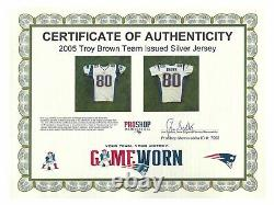 Troy Brown Game Used Worn New England Patriots NFL Silver 2006 Jersey COA