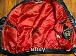 VTG Jeff Hamilton PREMIER EDITION Leather All NFL Team's Patches Jacket Size XXL