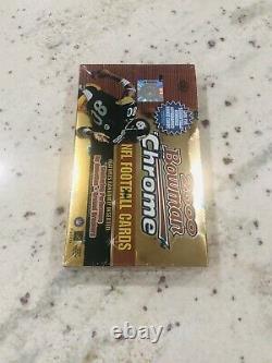 (1) 2000 Bowman Chrome Football Scellé Hobby Box 24 Packs Tom Brady Refracteur
