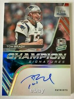 1 De 1 2020 Spectra Tom Brady LIII 53 2018 Champion Signatures Auto Patriots 1/1