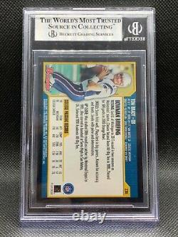 2000 Bowman #236 Tom Brady Nouvelle-angleterre Patriotes Rookie Rc Bgs 8,5 Nm/mt+