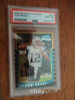 2000 Bowman Chrome #236 Tom Brady Psa 8 Mint Condition