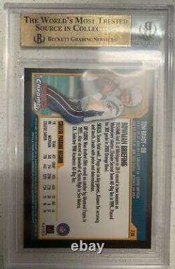 2000 Bowman Chrome #236 Tom Brady Rookie Rc Gem Mint Bgs 9,5 = Équivalent Psa 10