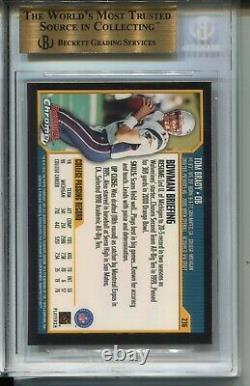 2000 Bowman Chrome Football 236 Tom Brady Rookie Card Rc Classé Bgs Gem Mint 9,5