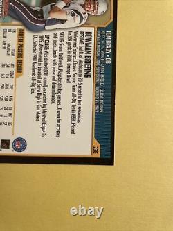2000 Bowman Chrome Original Tom Brady Rookie #236 Belle Carte