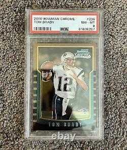 2000 Bowman Chrome Tom Brady #236 Rookie Card Rc Psa 8 Nm-mt Goat Invest