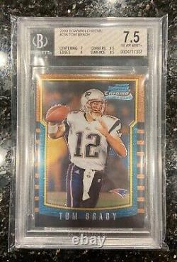 2000 Bowman Chrome Tom Brady Rookie Rc #236 Bgs 7.5 Nrmt+ (2x9.5/9/7) Psa Goat