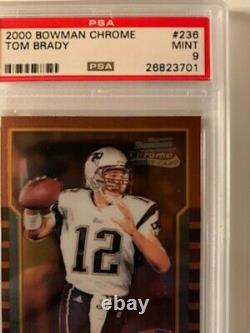 2000 Bowman Chrome Tom Brady Rookie Rc #236 Psa 9 Mint