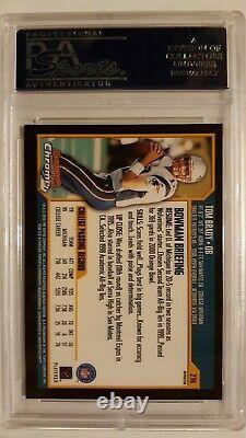2000 Bowman Chrome Tom Brady Rookie Refractor Rc Psa 10 (lire)