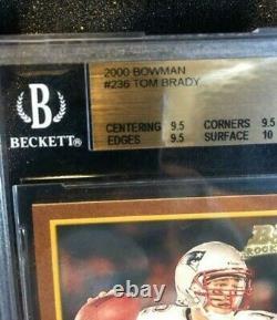 2000 Bowman Tom Brady Rookie Rc 236 Bgs 9,5 = Psa 10 True Gem Mint+