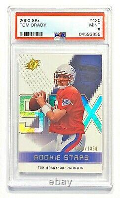 2000 Deck Supérieur Spx Tom Brady #904/1350 Rookie Rc Psa 9 Mint! C'est Bon.