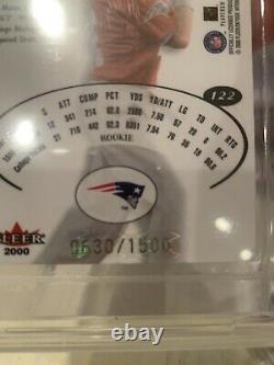 2000 E-x Tom Brady Rookie #22 Csa 10 Magnifique Carte Rc #/1500