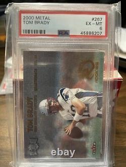 2000 Métal #267 Tom Brady Patriotes De La Nouvelle-angleterre Rc Rookie Psa 6