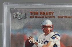 2000 Métal #267 Tom Brady Rc Psa 8 Nm-mt Beau Cas Propre