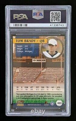 2000 Pacific Tom Brady Rookie #403 Psa 10