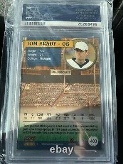 2000 Pacifique Tom Brady #403 Rookie On-card Autograph Psa Auto 10