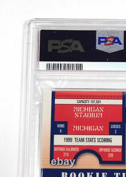 2000 Playoff Contenders Tom Brady #144 Rookie Psa / Dna On Card Auto 9