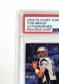 2000 Playoff Contenders Tom Brady #144 Rookie Psa/adn Sur Carte Auto 9