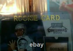 2000 Playoff Contenders Tom Brady Rc Rookie Ticket Goat! 7 $ (7 $ )