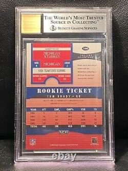 2000 Playoff Contenders Tom Brady Rookie Rc Auto #144 Bgs 9 Mint Auto 10