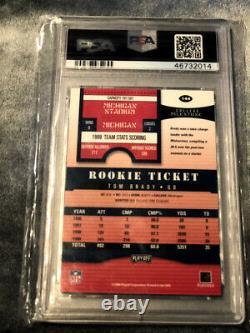 2000 Playoff Contenders Tom Brady Rookie Ticket Psa 10 Auto New England Patriots