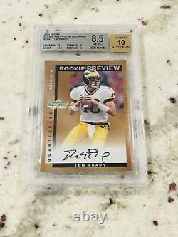 2000 Score Rookie Preview Autographes Tom Brady Rookie Rc Auto #sr41 8,5 9 10