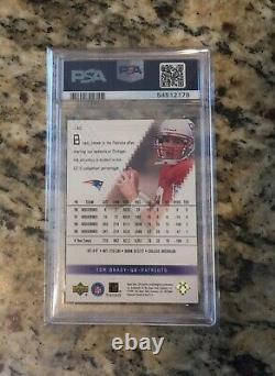 2000 Spx Football Tom Brady Rookie Rc /1350 #130 Psa 7 (devrait Être Min. Psa 8)