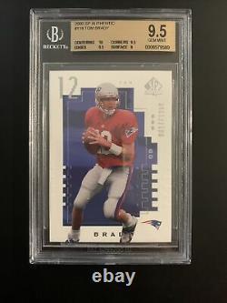 2000 Tom Brady Sp Authentic 617/1250 Bgs 9.5 Gem Mint Avec 10 Centering! Psa 10