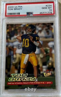 2000 Ultra Tom Brady Rc Psa 10 Gem Mintrookie