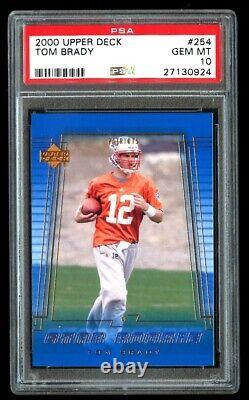 2000 Upper Deck Tom Brady Rookie Psa 10 Gem Mint Rc #254 Patriots De La Nouvelle-angleterre