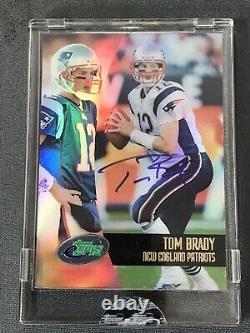 2002 Etopps Autograph Sp Tom Brady Auto Signé Rare 155 Exemplaires