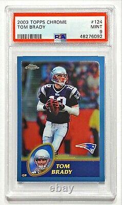 2003 Topps Chrome Tom Brady #124 Psa 9 Mint! Premier Brady Chrome