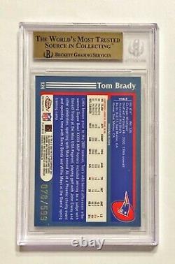 2003 Topps Chrome Tom Brady #78/599 Black Refractor Bgs 9.5 Gem Mint! Pop 9 Annonces