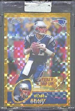 2003 Topps Chrome Weekly Wrap Up Xfractor Non Circulé #148 Tom Brady 55 De 101