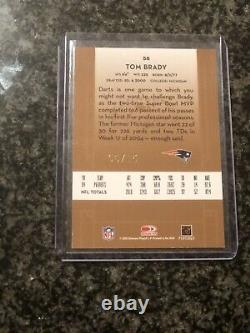 2005 Donruss Classics Tom Brady Signatures Importantes Auto /15 Patriots