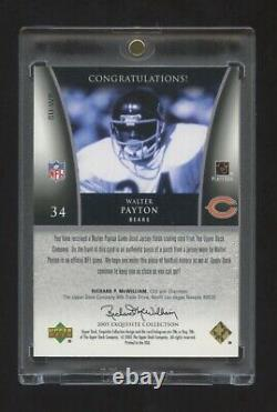 2005 Exquis Walter Payton Game Worn Super Patch Logo #ed 14/15 Bears Hof Rb