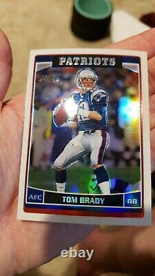 2006 Topps Chrome Refractor #106 Tom Brady Goat Patriots Future Hof