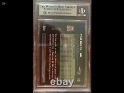2007 Topps Chrome Football #tc6 Tom Brady Refracteur Blanc Bgs 9 Monnaie
