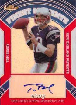 2007 Topps Finest Tom Brady Auto Refractor Moments Carte #d 25 Patriots