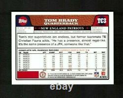 2008 Topps Chrome #tc3 Tom Brady Refracteur Bleu Sp