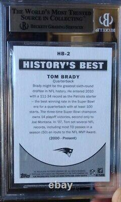 2010 Topps Magic History Meilleur Hb-2 Tom Brady Bgs 10 Pristine (pop 1) Psa 10 +