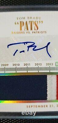 2014 Tom Brady National Treasures Timeline Patch/auto #5/5