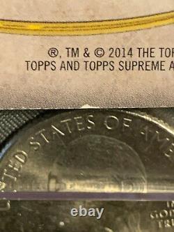 2014 Topps Supreme Tom Brady Auto New England Patriots /20 Carte #sa-tb