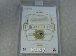 2020 Flawless Tom Brady On Card Auto Avec 'sb XXXVIII Mvp' Inscription #1/5