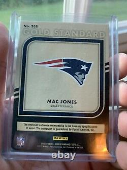 2021 Or Standard Mac Jones Rpa Rc Patch Or Encre Auto /49 Ssp Patriots Alabama
